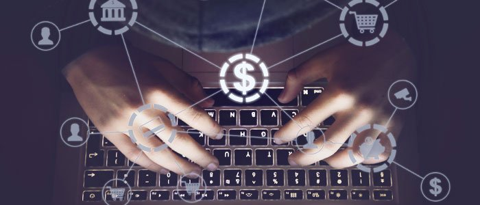 Hacker hacking into computer