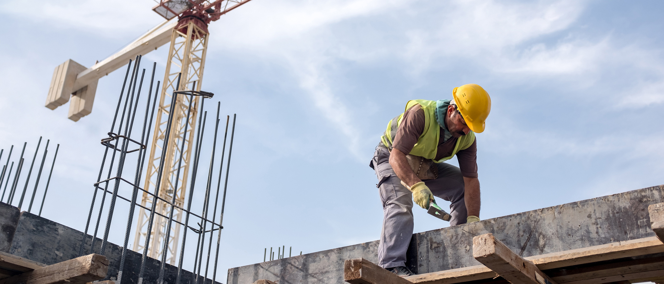A worker on a construction site.